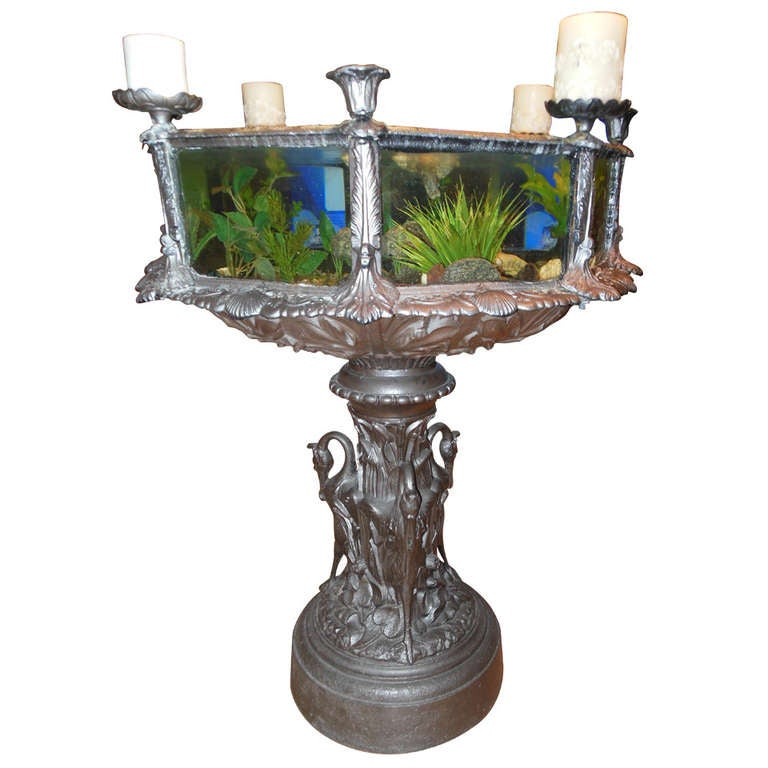 954726 for Garden with fish tank