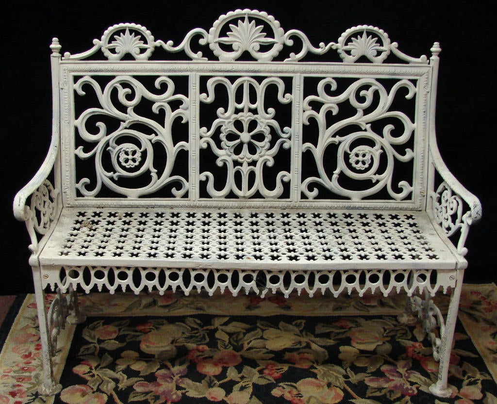 Cast Iron John Mclean Signed Bench At 1stdibs