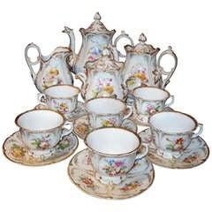 Old Paris Tea Set Rococo Style