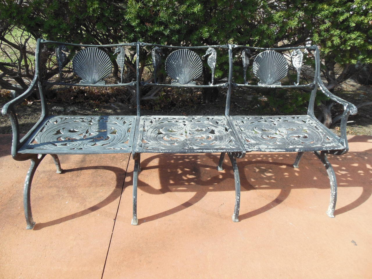 Patio Set By Molla For The Garden Or Sea Shore With Shells