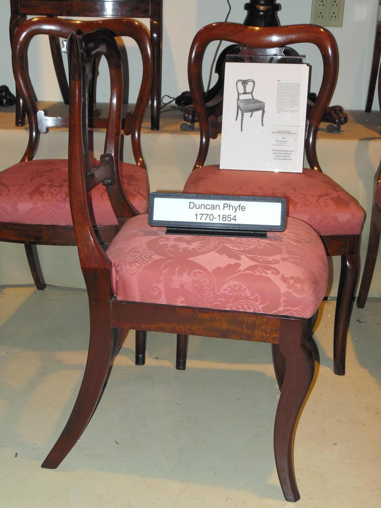 Duncan phyfe antique set of dining chairs at stdibs