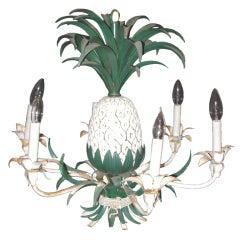 Pineapple Chandelier Hollywood Regency Style