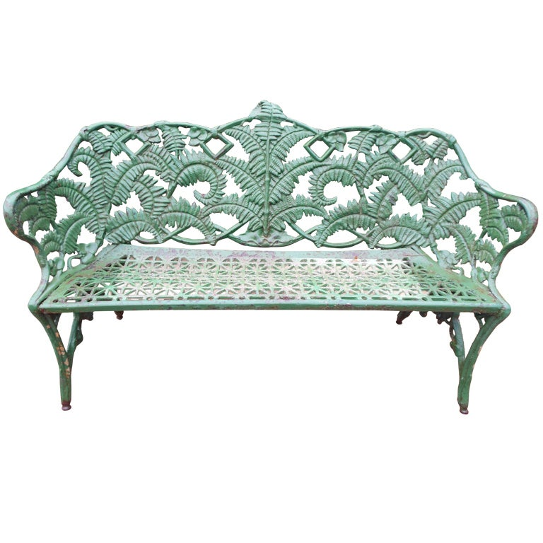 Cast Iron Garden Bench, 19thC 1