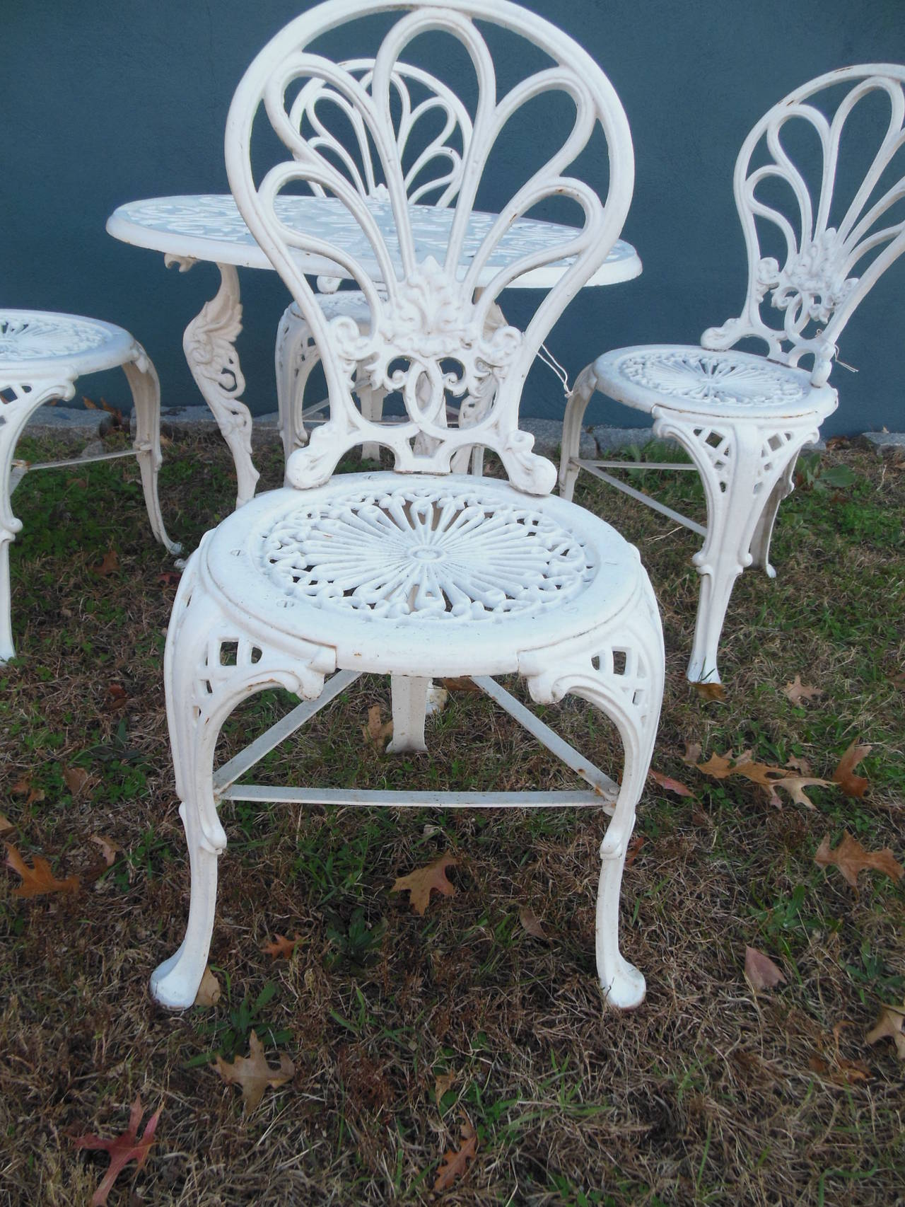 Antique Cast Iron Bistro Set Five Pieces At 1stdibs