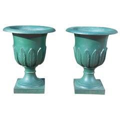 "Urns, Cast Iron Pair, ""Briggs-Barrow,"" 1880"