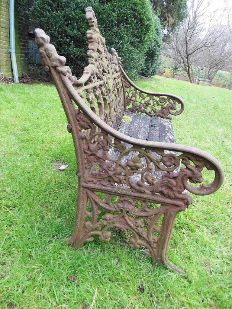 Cast Iron Gothic Romantic Design Bench At 1stdibs