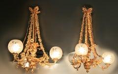 Antique Pr Chandeliers Victorian Rococo by Hooper