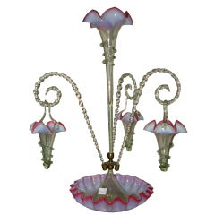 English Epergne with Hanging Baskets