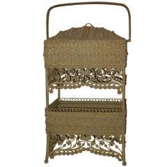 Wicker Elaborate Sewing Basket