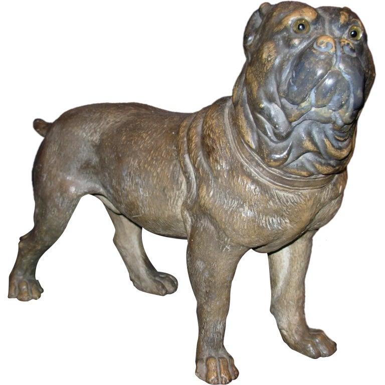 Terra Cotta Pug Dog Standing