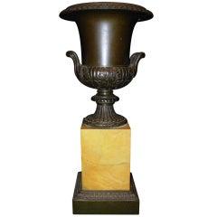 Bronze and Sienna Marble Urn