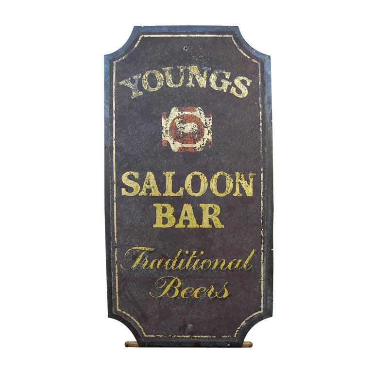 Vintage Saloon And Bar Pub Sign At 1stdibs