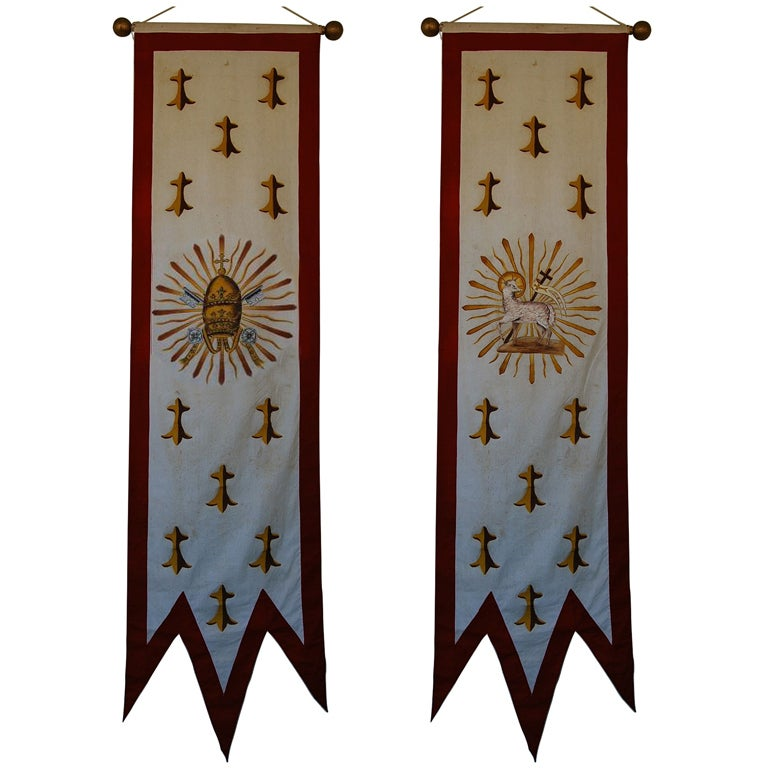Pair Antique Church Banners At 1stdibs. Phone Button Stickers. Stethoscope Decals. Gaya Hidup Signs. Design Flower Murals. Pulsar Rs 200 Decals. Custom Outdoor Flags. Leo Zodiac Signs. Personalised 1st Birthday Banners