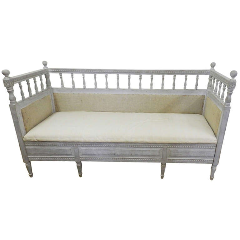 Gustavian bench or daybed at 1stdibs Daybed bench