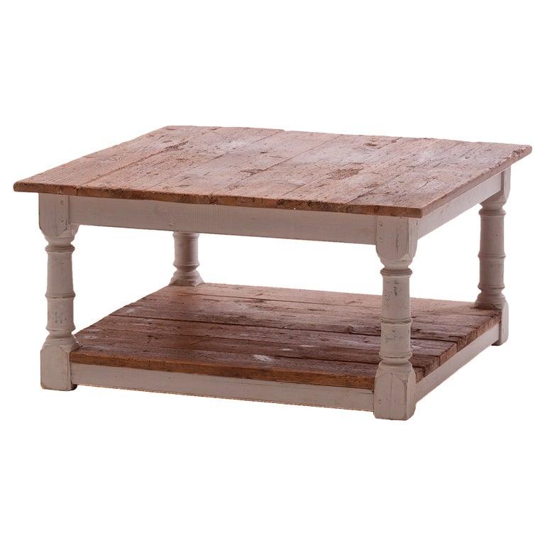 Rustic Pine Wood Coffee Table: Rustic Pine Coffee Table At 1stdibs