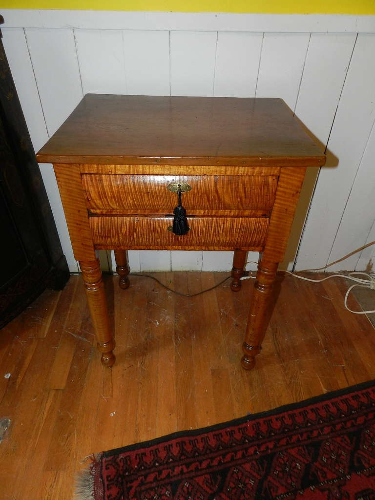 tiger maple end table at stdibs - tiger maple end table