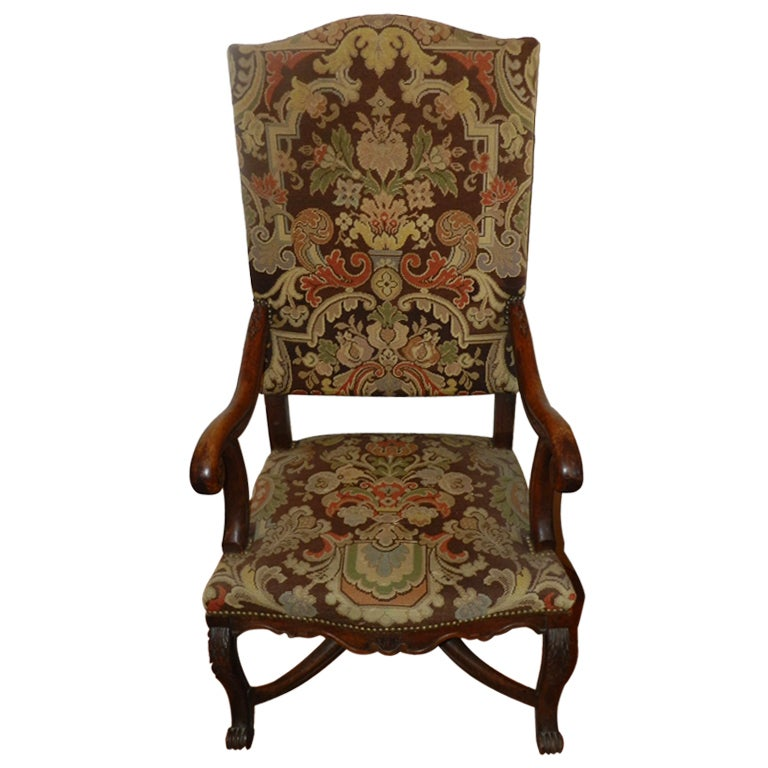 a louis xiv style fauteuil armchair at 1stdibs. Black Bedroom Furniture Sets. Home Design Ideas