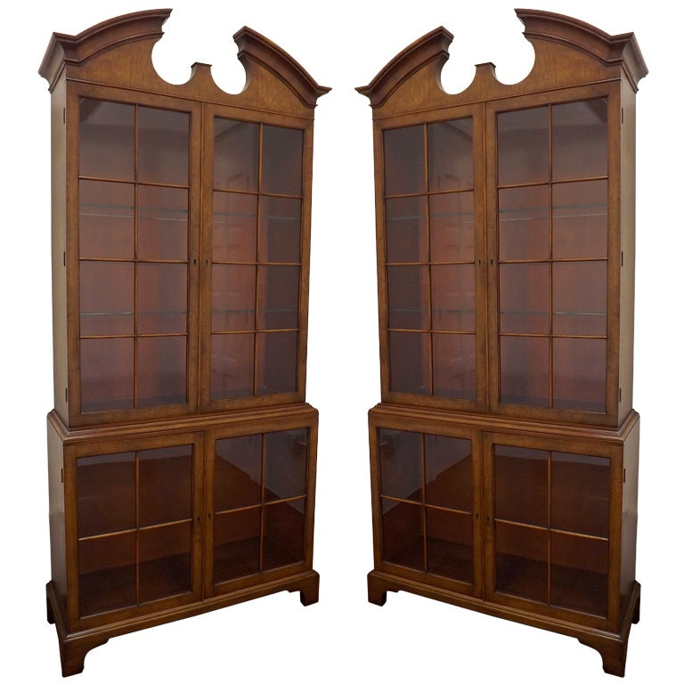 Pair of Samuel Marx Vitrines in Carpathian Elm For Sale