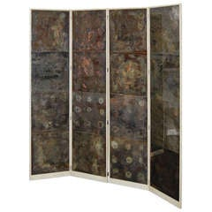 Samuel Marx Oxidized Mirror Screen from the LeRoy Estate