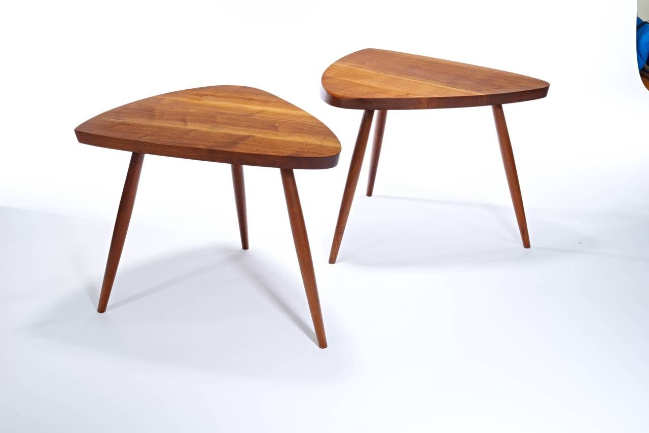"George Nakashima Perfect Pair of ""Wepman"" Tables at 1stdibs"