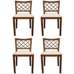 """Set of Four Jean Royère """"Croisillon"""" Chairs"""