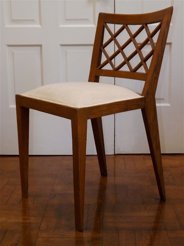 Set Of Four Jean Roy 232 Re Quot Croisillon Quot Chairs At 1stdibs