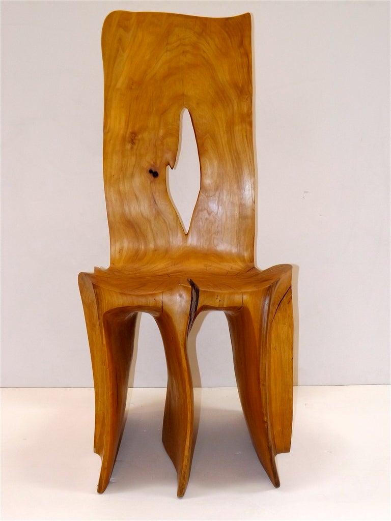 A unique studio chair by Washington craftsman, Scott Jaster.
