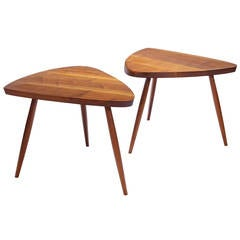 "George Nakashima ""Wepman"" Side Tables"