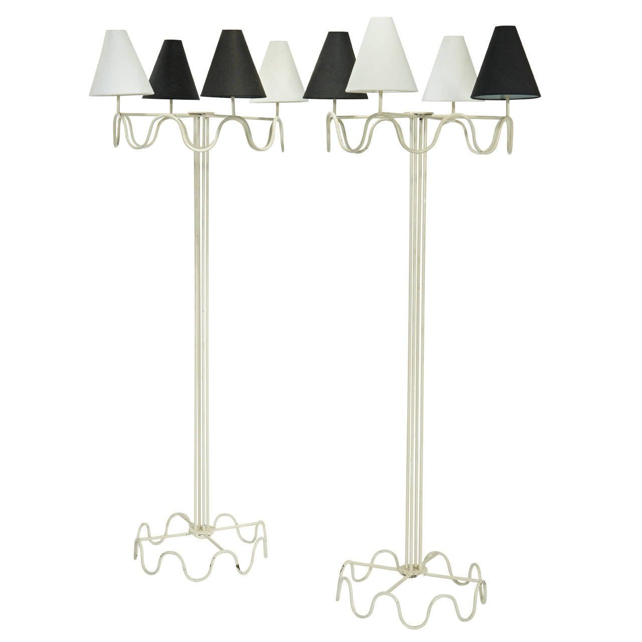 "Jean Royère ""Ondulation"" Standard Lamps"