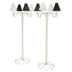 """Attributed to Jean Royère """"Ondulation"""" Standard Lamps"""