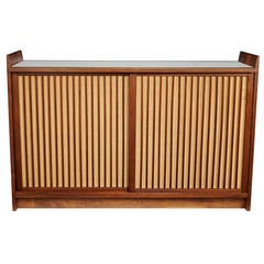 George Nakashima Dry Bar with Pandanus Front