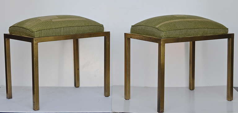 French Marc DuPlantier Gilded Iron Stools For Sale
