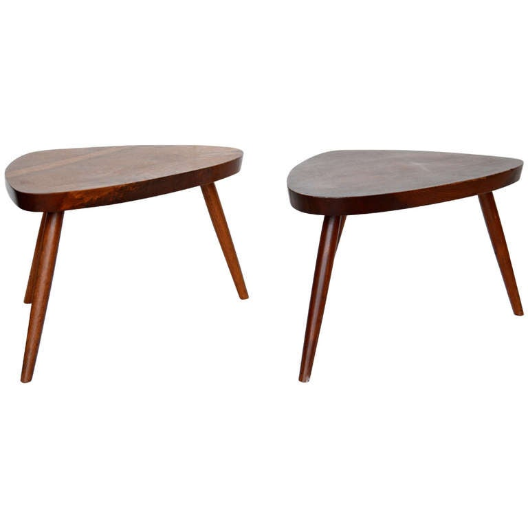 George Nakashima Pair of Occasional Tables at 1stdibs