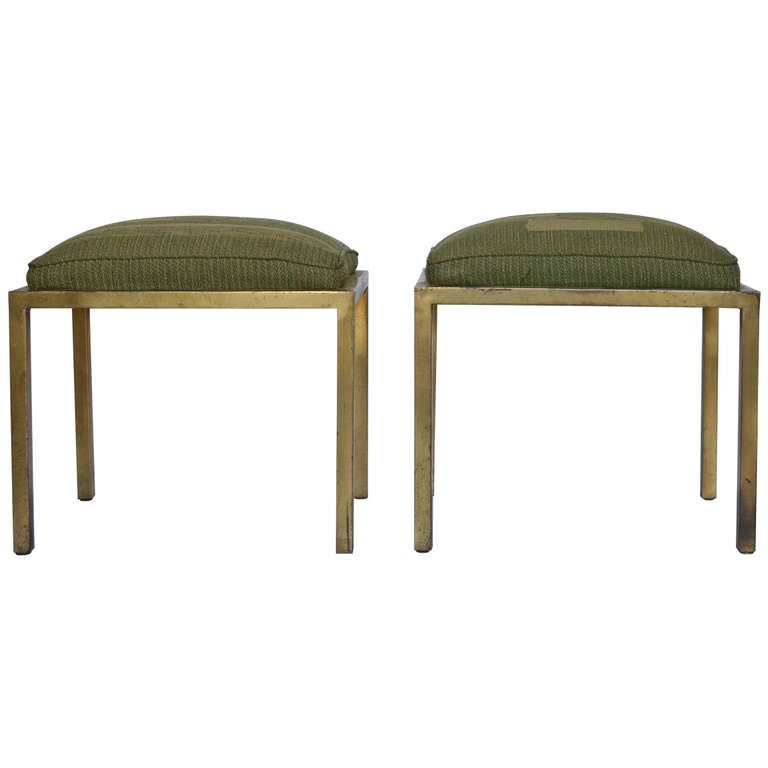 Marc DuPlantier Gilded Iron Stools