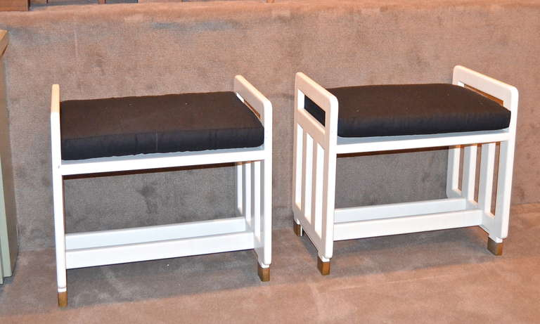 Vienna Secession Bruno Emmel Lacquered Viennese Secessionist Benches For Sale