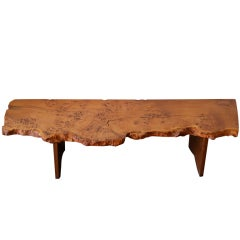 George Nakashima Custom English Burl Free Edge Table