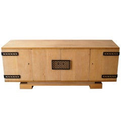 Jean Royere Oak Credenza with Iron Hardware
