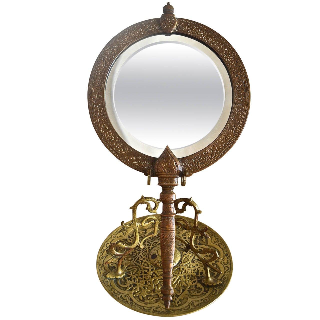 """Tiffany & Co. """"Alhambra"""" Bronze Mirror For Sale"""