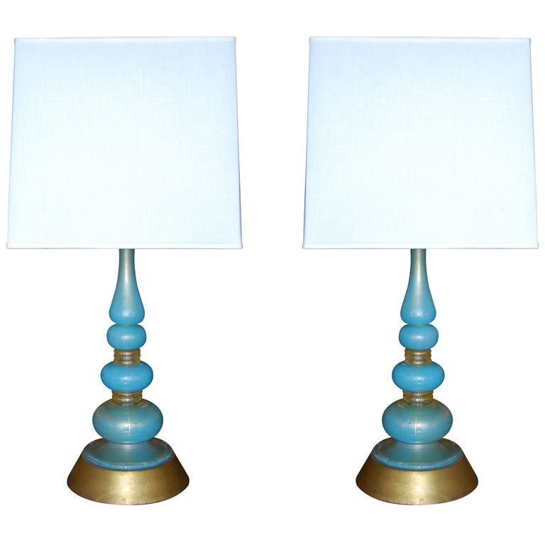 this barovier and toso turquoise glass table lamps is no longer. Black Bedroom Furniture Sets. Home Design Ideas