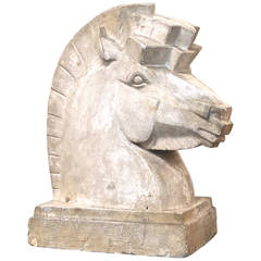 Rosemont Sears Art Deco Plaster Horse Head Sculpture