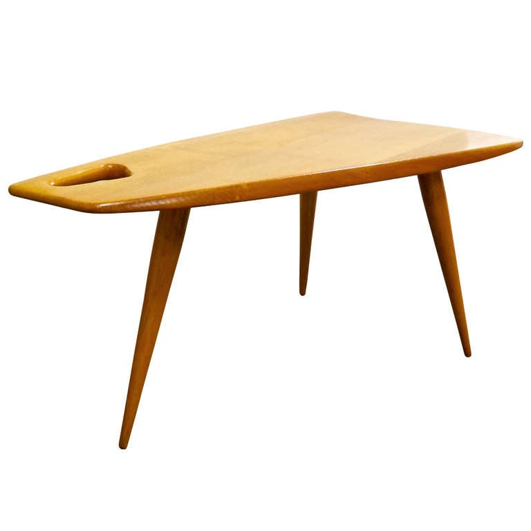 Rene gabriel trapezoid table for sale at 1stdibs for Trapezoid table