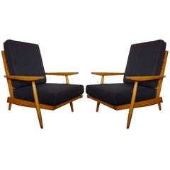 George Nakashima Pair of Cherry Armchairs