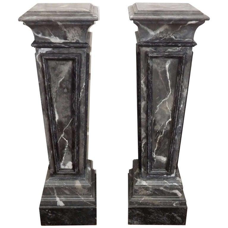 Maison Jansen Marbleized Pedestals