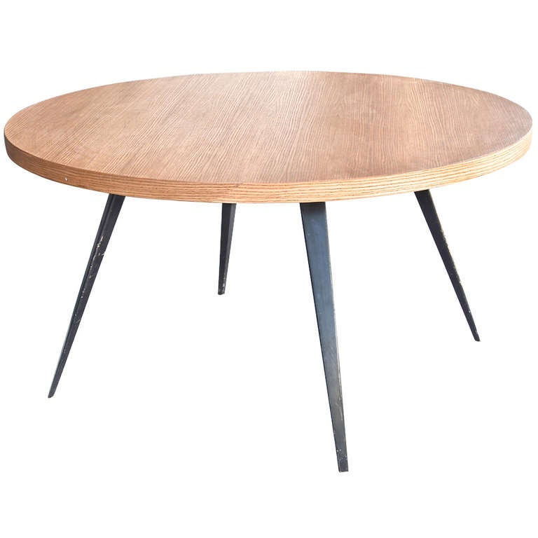charlotte perriand round dining table at 1stdibs. Black Bedroom Furniture Sets. Home Design Ideas