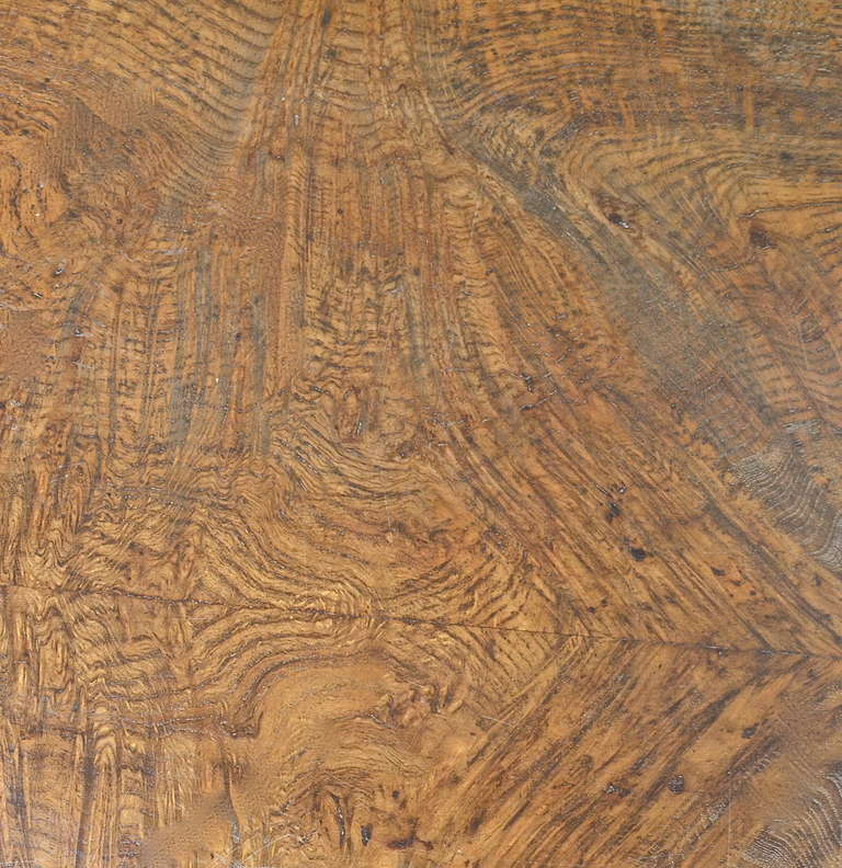 Mid-20th Century Samuel Marx Burled Oak Desk For Sale