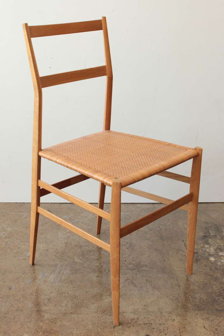 Delicieux A Very Nice, Early Set Of Ponti Chairs. Executed By Cassina. Documented.