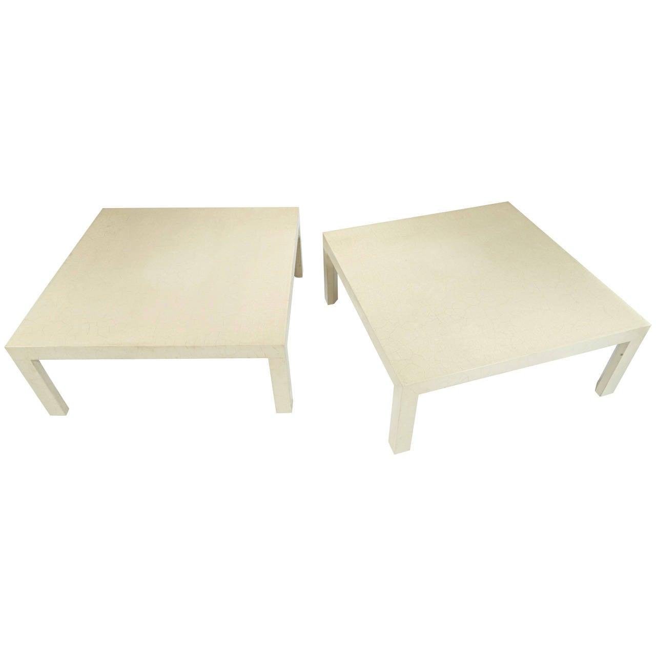Samuel Marx Pair of Craqueleur Low Tables