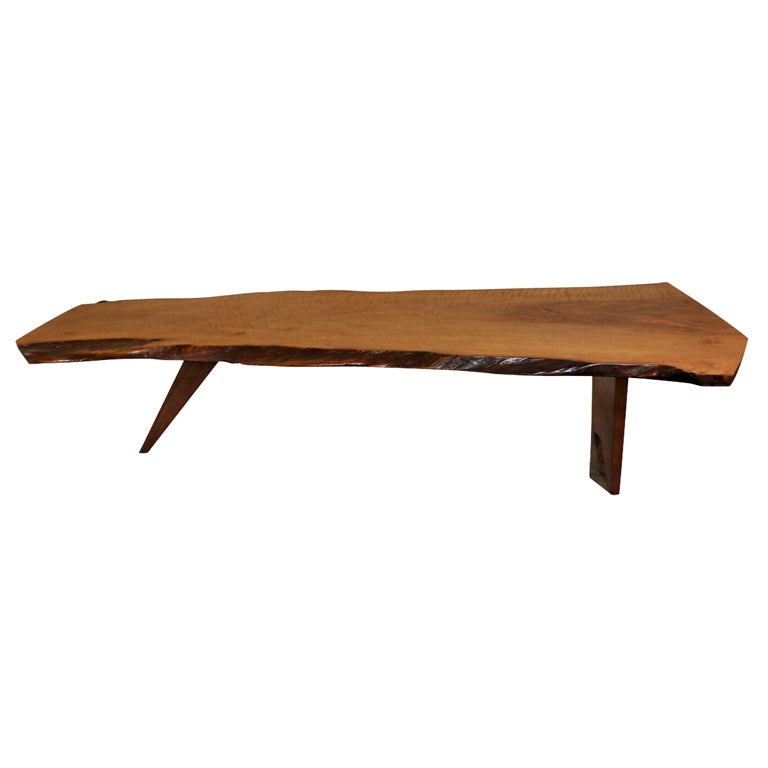 George Nakashima Persian Walnut Slab One Coffee Table At 1stdibs