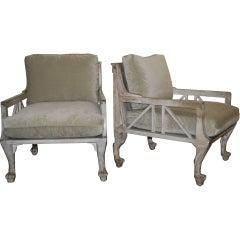 "John Hutton Paw Foot ""Throne"" Chairs"