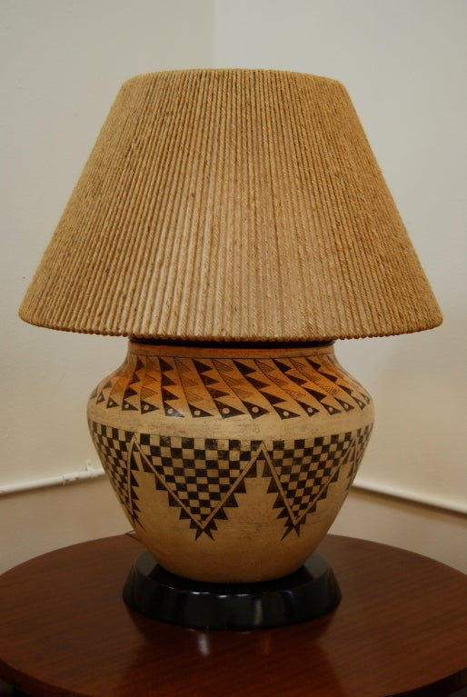 Samuel Marx Native American Indian Pottery Table Lamp At